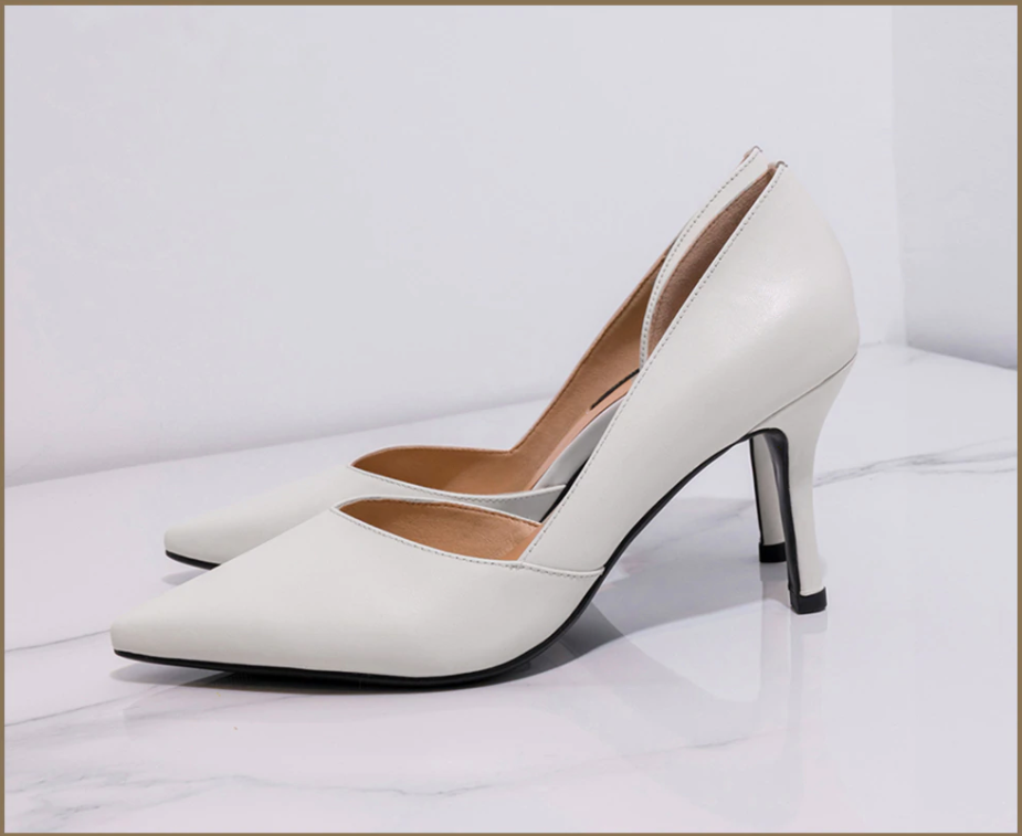 Carlisle Pumps Shoes Party Shoes White Genuine Leather Shoes Ultra Seller Online USA