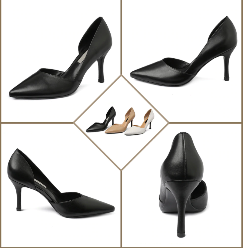 Carlisle Pumps Shoes Party Shoes Black Genuine Leather Shoes Ultra Seller Online USA