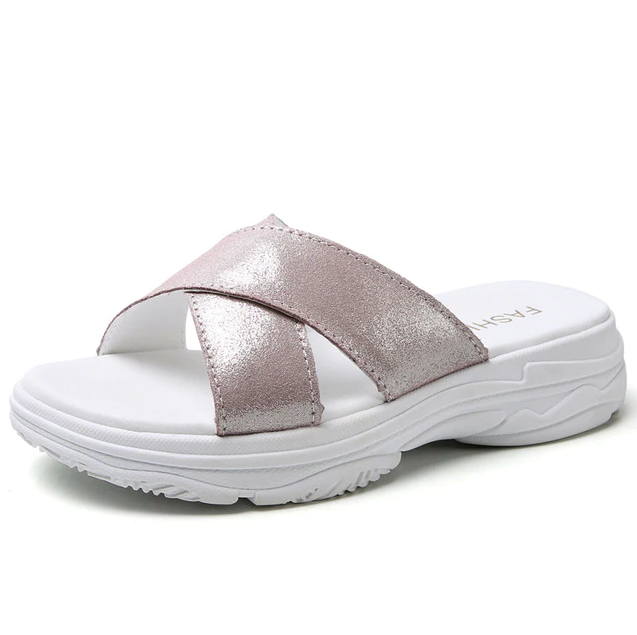 Eirenne Flat Shoe Color Silver Ultra Seller Shoes Online Store