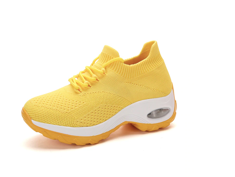 Godoy Sneakers Shoe Color Yellow Comfortables Ultra Seller Shoes Online Store