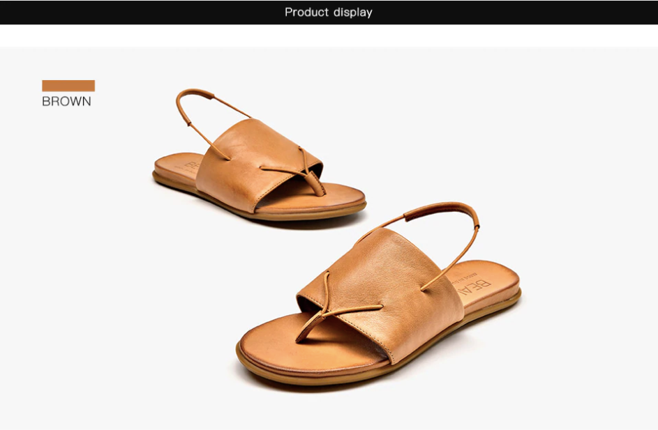 Ixchel Sandals Shoe Color Brown Ultra Seller Shoes Genuine Leather Sandals Womens Online Store