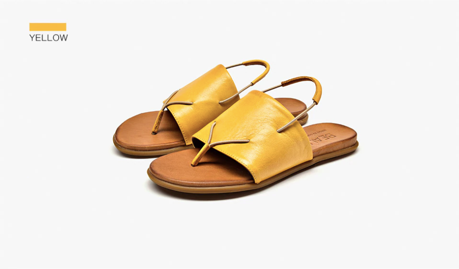 Ixchel Sandals Shoe Color Yellow Ultra Seller Shoes Genuine Leather Sandals Womens Online Store