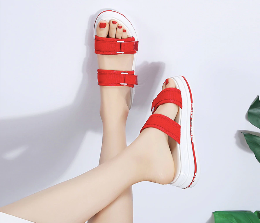 Minona Flat Shoes Red Color Ultra Seller Shoes Cheap Womens Online Store