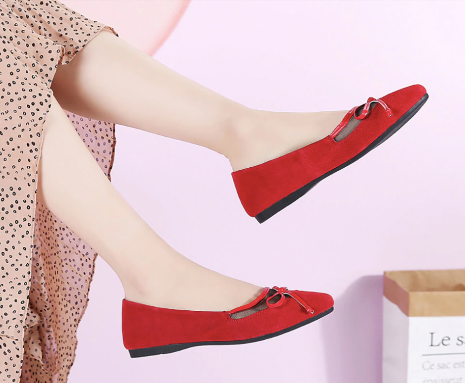 Morrigan Flat Shoe Red Comfortable Shoes Ultra Seller Online Store