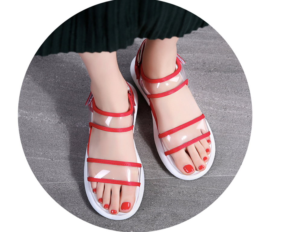 Nerthus Wedges Shoe Color Red Ultra Seller Women's Shoes Cheap Beach Slippers