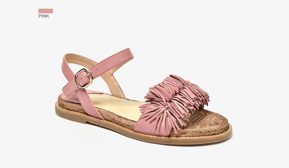 Palmtree Sandals Shoe Casual Ultra Seller Shoes Color Pink Leather Online Store