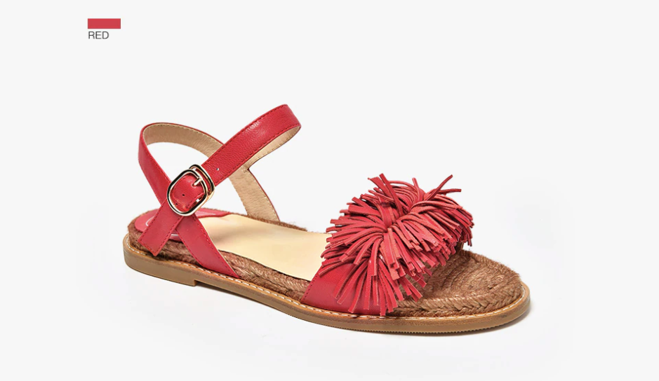 Palmtree Sandals Shoe Casual Ultra Seller Shoes Color Red Leather Online Store