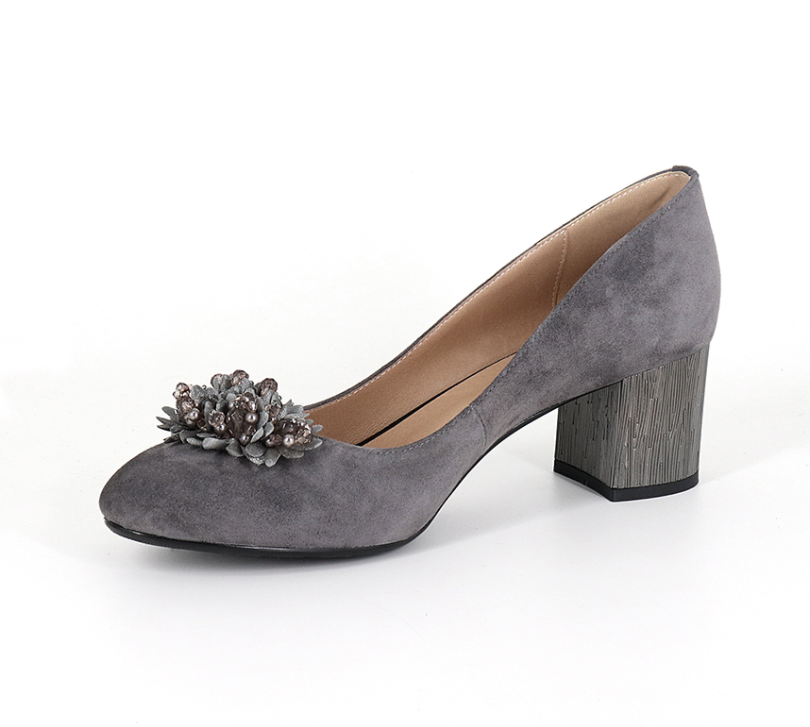Perséfone Pumps Shoe Color Grey Ultra Seller Shoes Womens  Suede Shoe Affordable Online USA