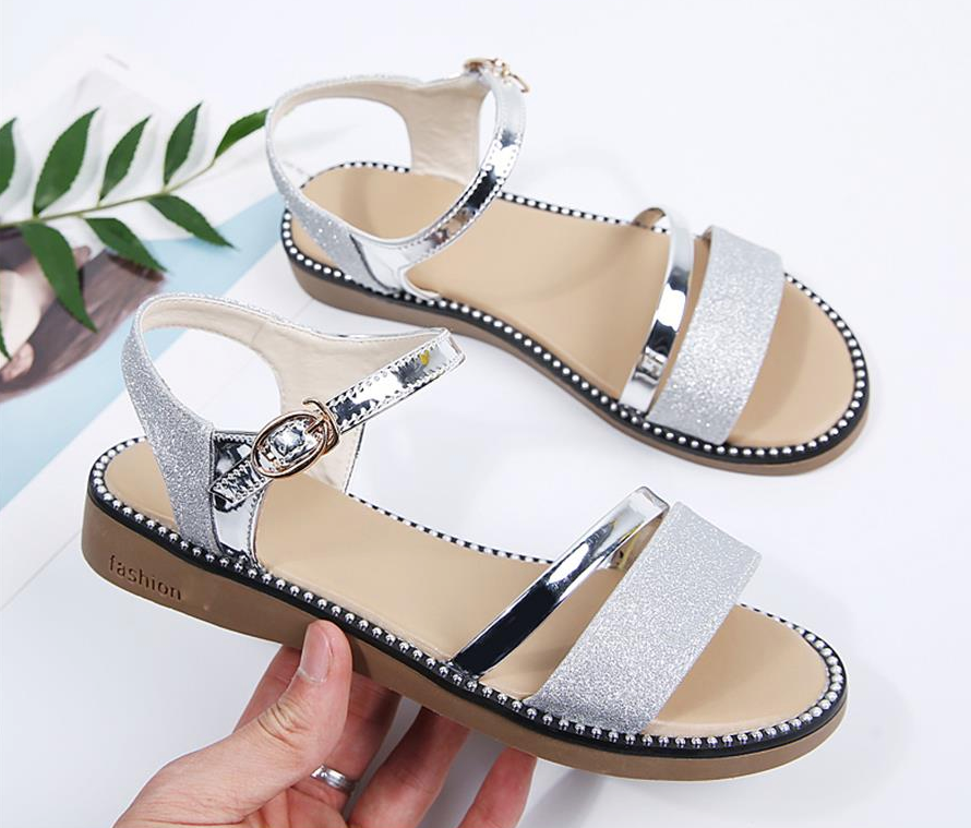 Saavedra Sandals Shoe Women's Sandals Cheap Shoes from Ultra Seller Silver Color Online Store
