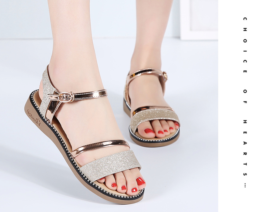 Saavedra Sandals Shoe Women's Sandals Cheap Shoes from Ultra Seller Gold Color Online Store