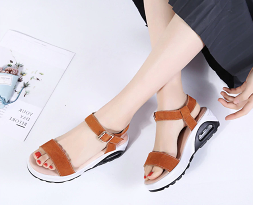 Anumati Wedges Shoes Color Brown Ultra Seller Shoes Affordable Womens Shoe Online Store