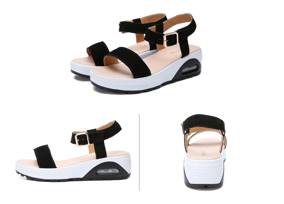 Anumati Wedges Shoes Color Black Ultra Seller Shoes Affordable Womens Shoe Online Store