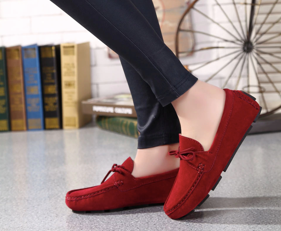 Astarté Loafers Shoe Color Red UltraSeller Shoes  Womens Loafers Leather Comfortable Shoe OnlineShop