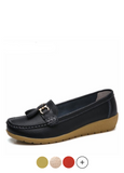 Pola Women's Loafer-Slip On Black Shoes