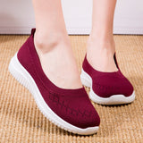 Kacy Women's Slip On Loafers Breathable Knit Flat Walking Shoes