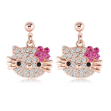 Adorable Cat Flower Stud Earrings - AwesomeIWantThat.com