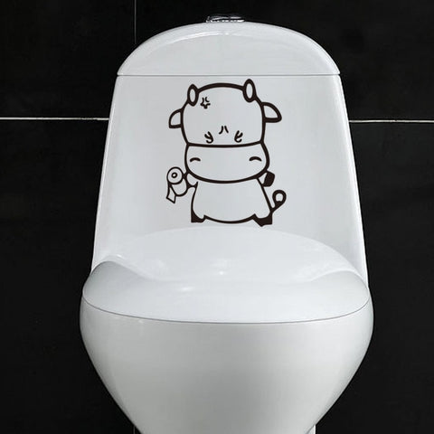 Bathroom Toilet Sticker Decal - AwesomeIWantThat.com