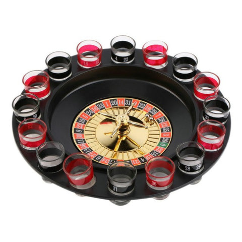 Big Shot Roulette Drinking Game [incl 16 Shot Glasses]