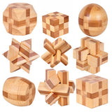 Interlocking Wooden Puzzle Kong Ming Lock - AwesomeIWantThat.com