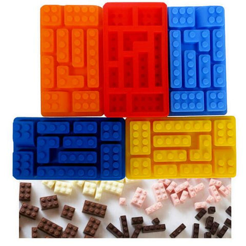 LEGO-style Brick Silicone Mold [10 mold tray] - AwesomeIWantThat.com