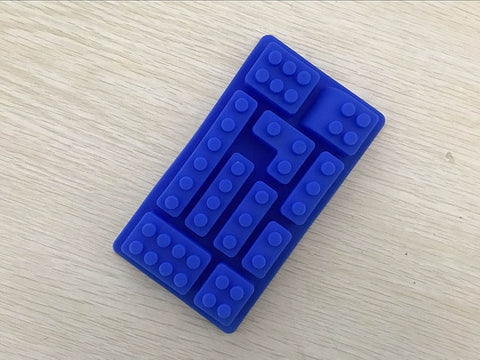 LEGO-style Brick Silicone Ice Cube Mold [10 mold tray] - AwesomeIWantThat.com