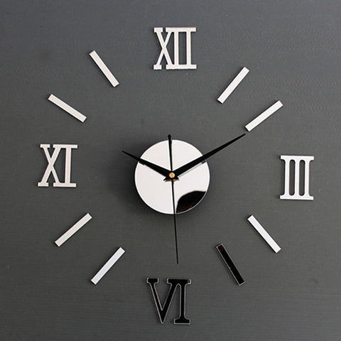 Modern Roman Stick-on Wall Clock - AwesomeIWantThat.com
