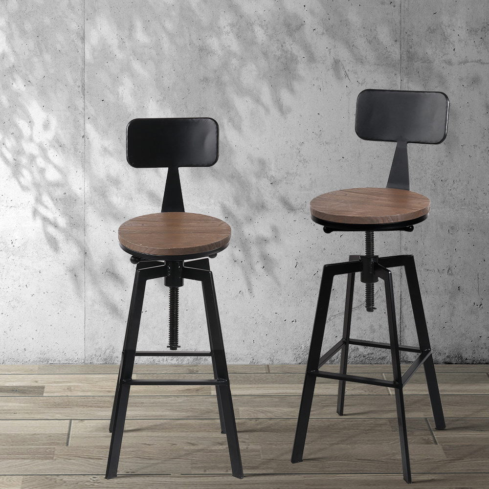 Rustic Industrial Metal Bar Stools