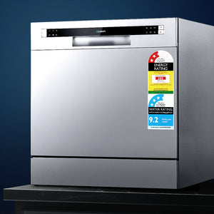 Devanti Benchtop Dishwasher 8 Place Setting - (excl-Regional QLD & WA, Far Nth QLD, NT & WA Remote)