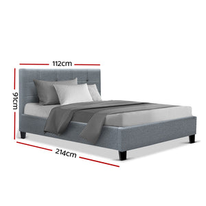 Artiss King Single Size Bed Frame Base Mattress Platform Grey Fabric Wooden SOHO - (excl FNQ, NT & Regional WA)