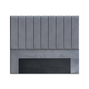 Queen Size Fabric Bed headboard - Grey - (Only available in VIC, NSW, SA & ACT)