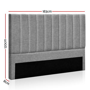 KING Size Bed Head SALA Headboard for Base Frame Linen Upholstered - (VIC NSW SA & ACT only)