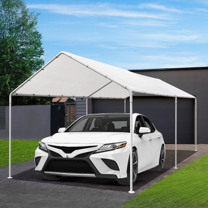 Carports 3m x6m Carport Kits Gazebo Canopy Tent Cover Metal Garden Shed White - (Not available in NT or WA or any remote/regional areas)