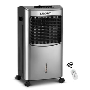 Devanti Portable Evaporative Air Cooler - Silver