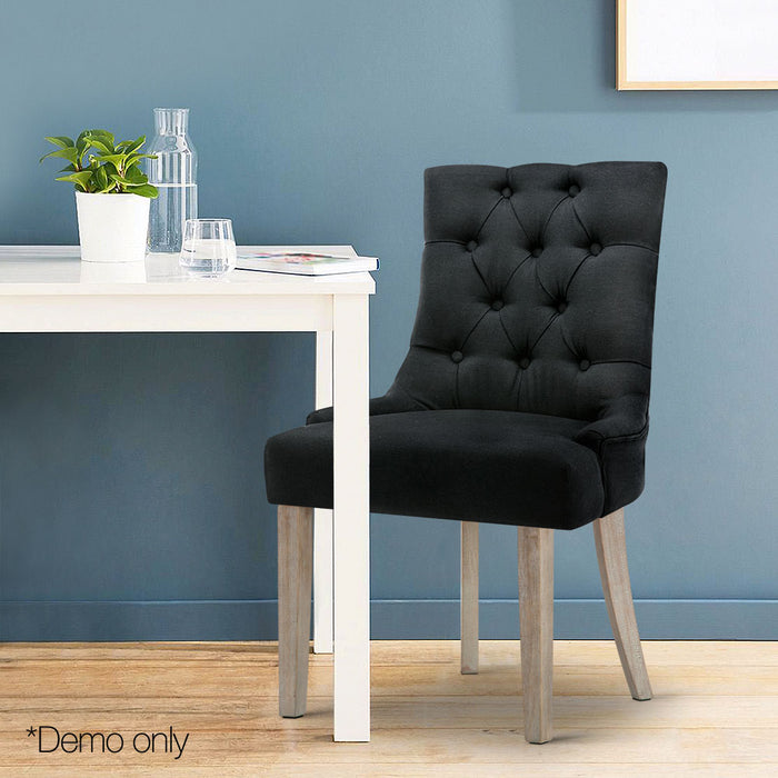 French Provincial Dining Chair Black