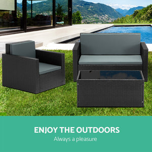 4-piece PE Wicker Outdoor Set