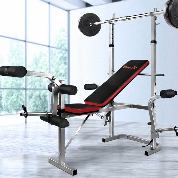 Everfit 7-In-1 Weight Bench Multi-Function Power Station Fitness Gym Equipment (Not available in WA or any remote/regional areas)