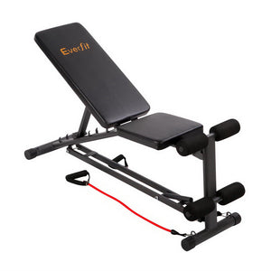 Everfit Adjustable FID Weight Bench Flat Incline Fitness Gym Equipment