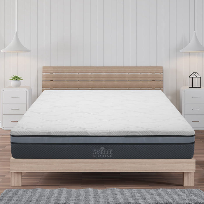 Giselle Bedding Cool Gel Memory Foam Mattress Queen Size - (Only available in VIC, NSW, SA & ACT)