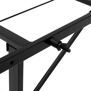 Artiss Foldable King Single Metal Bed Frame - Black