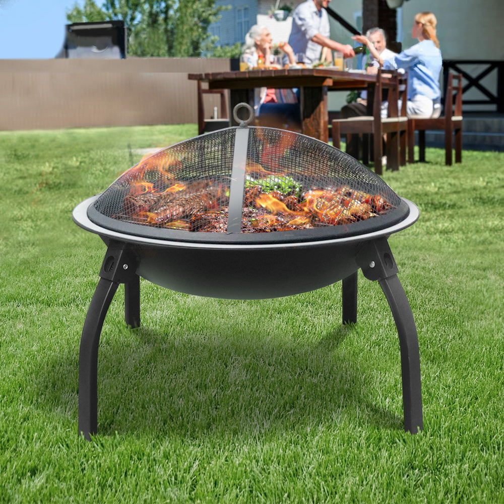 Portable Foldable Outdoor Fire Pit Fireplace 22 Inch