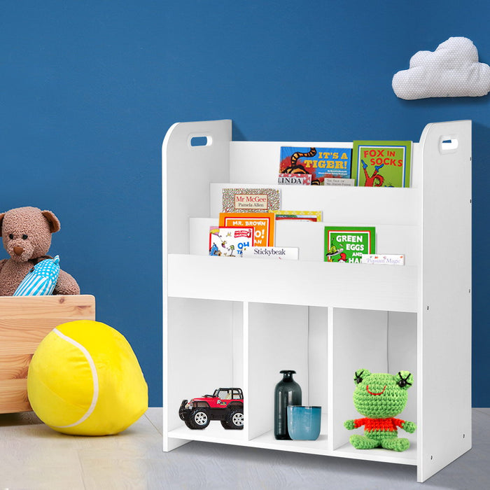 Keezi Kids Bookcase Childrens Bookshelf Display Cabinet Toys Storage Organizer