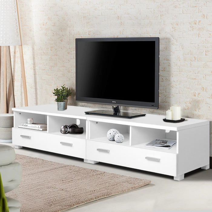 TV Stand Entertainment Unit with Drawers White
