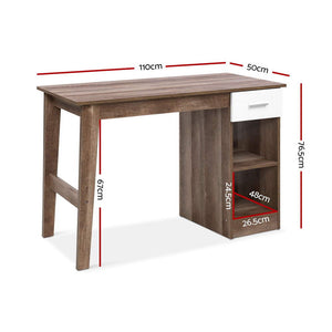 Artiss Scandinavian Office Computer Desk Student Study Table Workstation Shelf