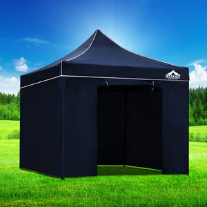 Instahut Gazebo Pop Up Marquee 3x3m Folding Wedding Tent Gazebos Shade Navy