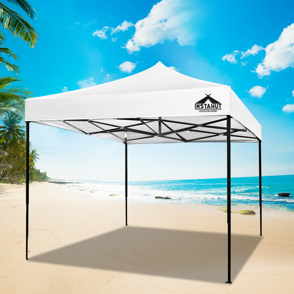 Instahut Gazebo Pop Up Marquee 3x3m Outdoor Tent Folding Wedding Gazebos White