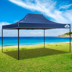 Instahut Gazebo Pop Up Marquee 3x4.5m Outdoor Tent Folding Wedding Gazebos Navy - (Not available in FNQ, WA & NT)
