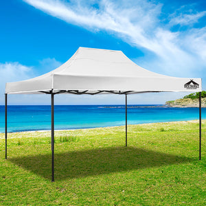 Instahut Gazebo Pop Up Marquee 3x4.5m Outdoor Tent Folding Wedding Gazebos White - (Not available in FNQ, WA & NT)