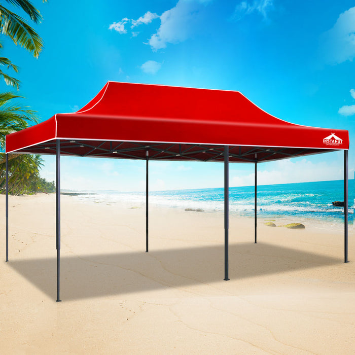 INSTAHUT 3X6M Pop Up Gazebo - Red - (Not available in QLD, TAS, WA & NT)