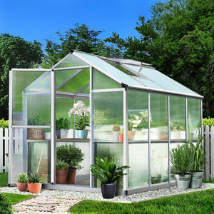 Greenfingers Greenhouse Aluminium Green House Garden Shed Greenhouses 2.42x1.9M - (Not available in QLD, TAS, WA & NT)