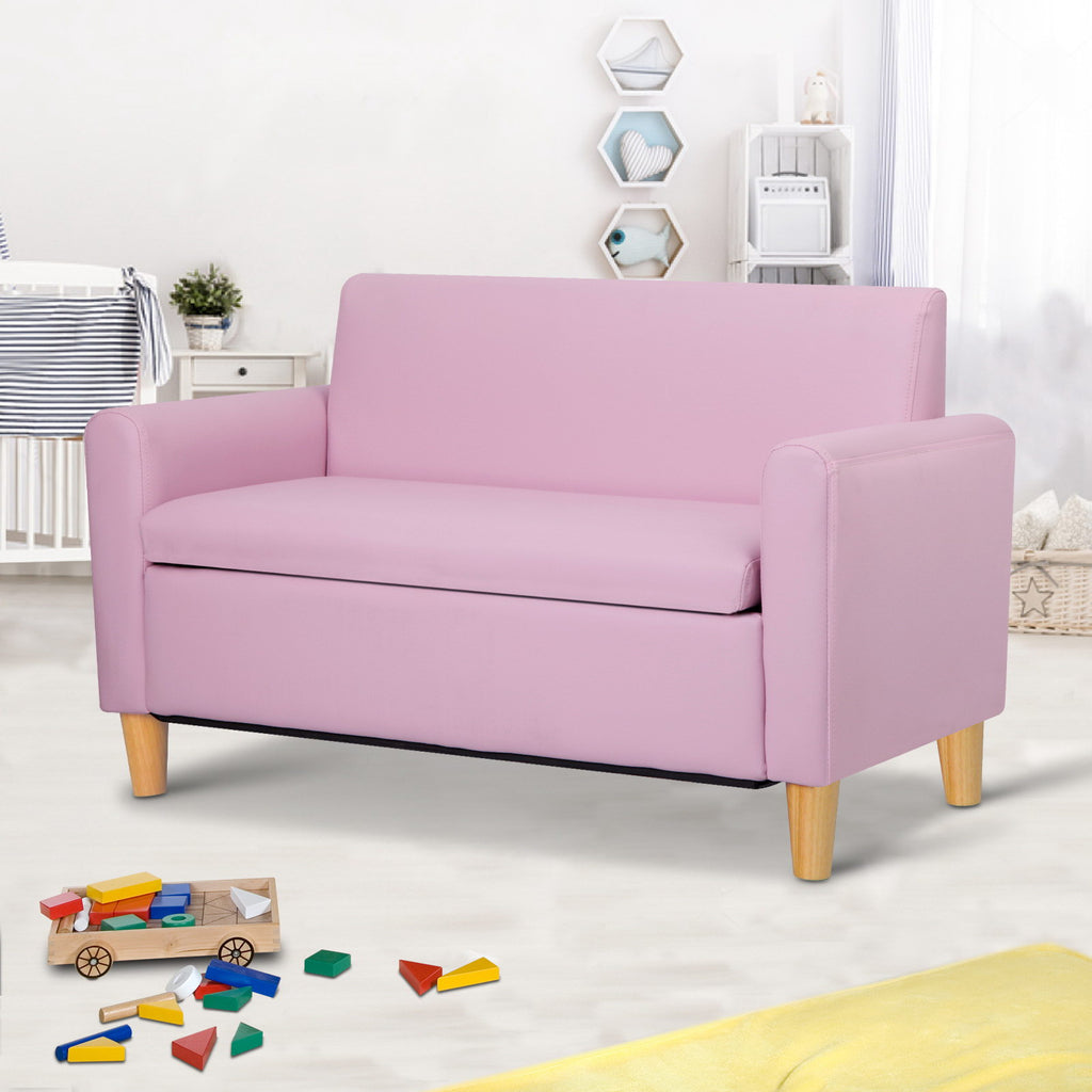 Kids Double Couch - Pink